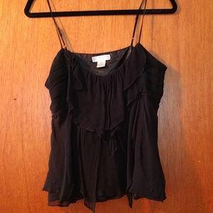 Black flowy tank top blouse